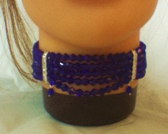bicone crystal collar