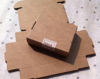 8.4x6.2x2.2cm Soap box of imported kraft box storage box small jewelry box candy box carton aircraft 100pcs