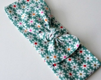 Spring flower knit knot headband --baby --toddler-- child --teen