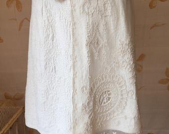 Net lace & cotton skirt