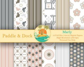 Digital Scrapbook Paper - Marly