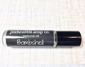 Bombshell Perfume Oil, Powdery Perfume, Roll On Perfume, Woods Perfume Oil, Women's Perfume, Vegan Perfume, Summer Perfume Wedding