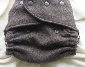 Chocolate Wülbrid Nappy Cover - One Size Wool Diaper Cover