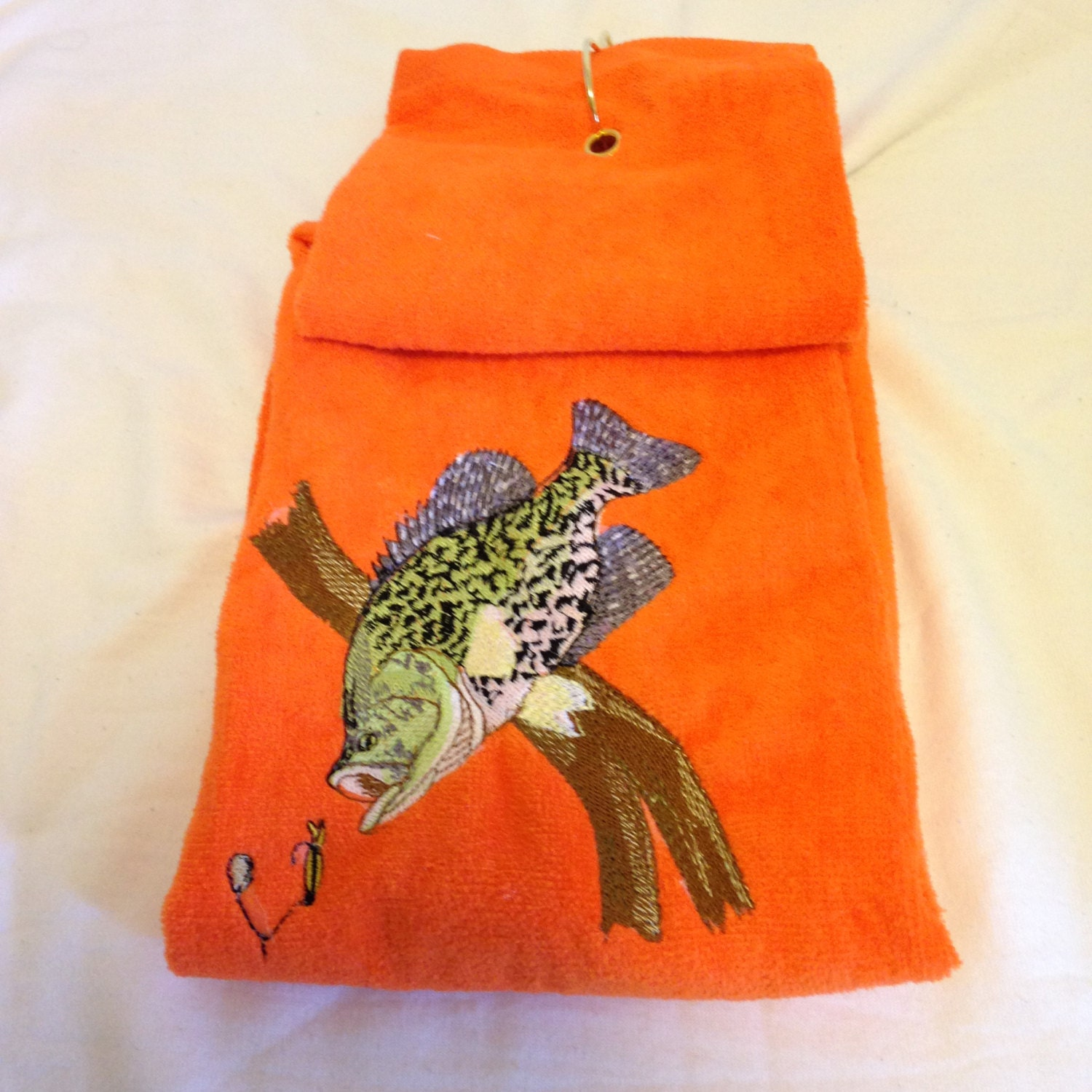 Embroidered Golf Towel Hunting Towel Or Fishing Towels This