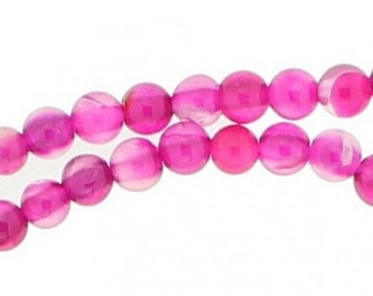 92 Pearl wire round 4mm 4 mm transparent pink agate