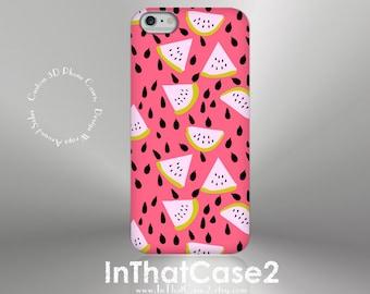 1243 // iPhone 6 Case iPhone 6 Plus Case iPhone 5 Case iPhone5sCase Samsung GalaxyS5case GalaxyS6case, custom case, summer watermelon, pink