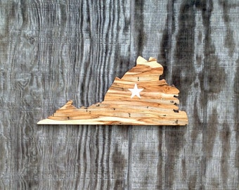 Wooden Virginia Sign