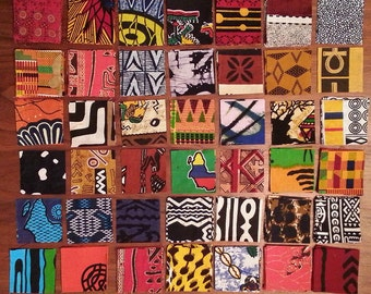 Mini charm pack of 2.5-inch West African fabric (42 different fabrics)
