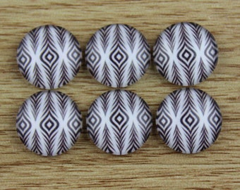 10 pcs 12mm Handmade photo glass cabochon cabs-561-1