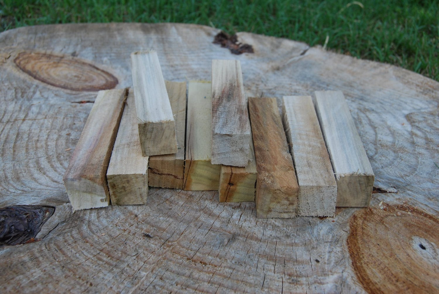 Reclaimed Spalted Sweet Gum Pen Turning Blanks 1 Inch By 1 Inch By 6 Inches Turning Supplies