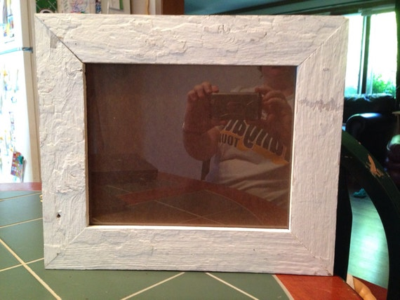 Reclaimed White Barn Wood Picture Frame