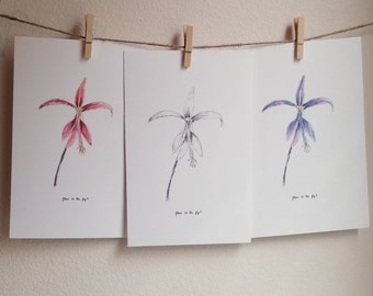 Fleur De Lis Print Set