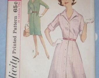 1960s Shirtwaist Dress Pattern Simplicity 5027 Sz 20 1/1