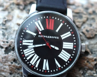 POLJOT Petrodvorets Soviet Military Mechanical Watch q /Serviced