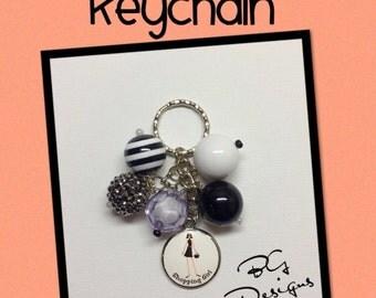 Shopping Girl Keychain