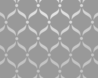 Reusable Wall Stencil Curvy Lattice Allover Pattern. Available In 10 or 14 Mil Mylar at no extra charge. SKU: S0043