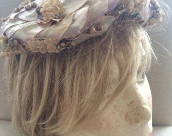 Vintage Pearl & Rhinestone Hat