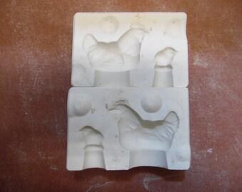 Alberta #A-2 Hen and Chick ceramic mold