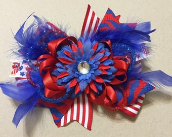 Large 4th of July Hair Bow