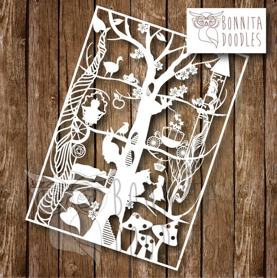 Paper Design Templates Free: Fairytale Paper Cutting Template Personal Use