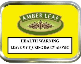 Amber leaf design 2oz gold tobacco tin,pill box,storage tin