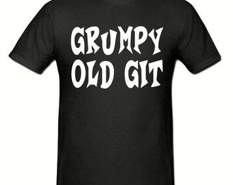 Grumpy old git t shirt,mens t shirt sizes small- 2xl, gift,dad gift