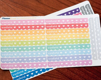 Cute Weekend Stickers for Planners
