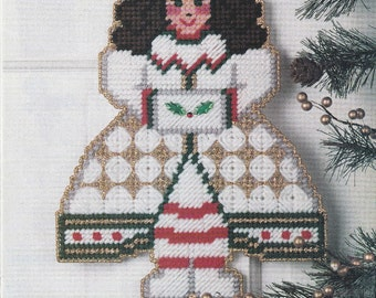 Christmas Girl/Angel in Plastic Canvas