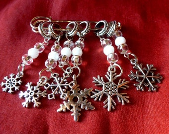 Snowflake Stitch Markers for Knitting