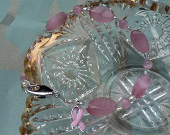 Breast Cancer / Pink Ribbon Bracelet