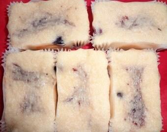 Homemade Blueberry Swirl Mini Pound Cake Loaves (10 Loaves)