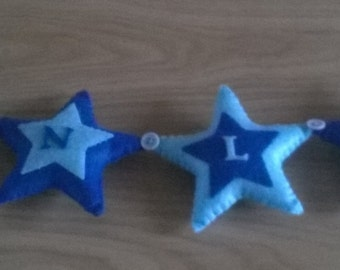 Felt star name garland