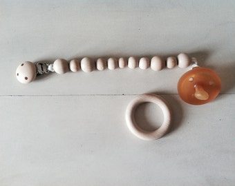 Pacifier clip and baby teether