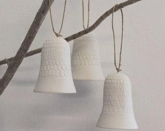 Porcelain chiming bells set of 3