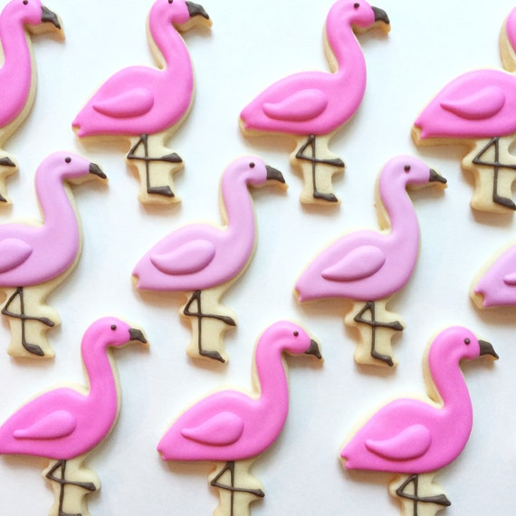 Flamingo Sugar Cookies By HollyFoxDesign On Etsy