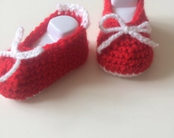 Hand made baby girl shoes