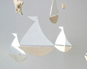 Sailboat nursery, Baby mobile, Sailboat Mobile, nursery baby mobile, ship mobile, boat mobile, Nautical Nursery Decor, nautical baby mobile
