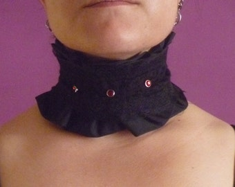 """Victorian Style"" collar taffeta and lace"