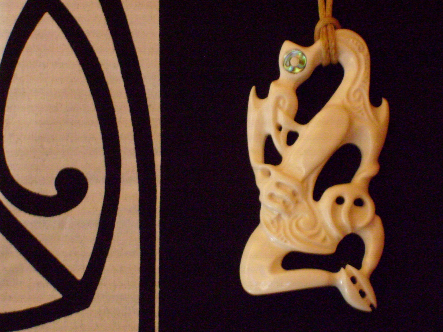 Authentic new zealand maori bone carving by propus on etsy