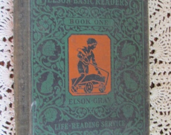 Vintage 1930 Elson Basic Readers Book One/Scott, Foresman and Co/Fair Condition