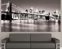 New York Decal Mural, New York Wall Decal, NYC Cityscape, New York City Wall Decal, New York City Wall Design, New York City Wall Art, c59