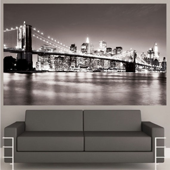 New York City Black And White Wall Decal By PrimeDecal Part 7