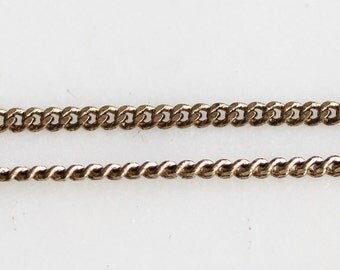 B5-87-AB] Antique Brass plated / 2.2mm / Curb Chain / 1 meter