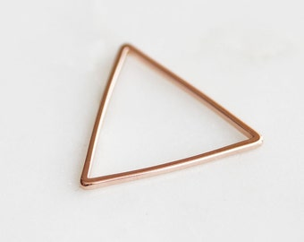 K7-052-25-PG] Triangle / 25mm / Pink Gold plated / Link / 4 piece(s)