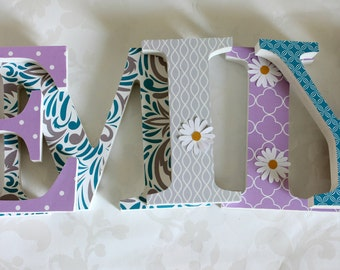 Girls Wooden Letters
