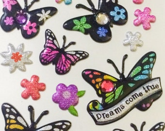 Sparkly Butterfly Stickers