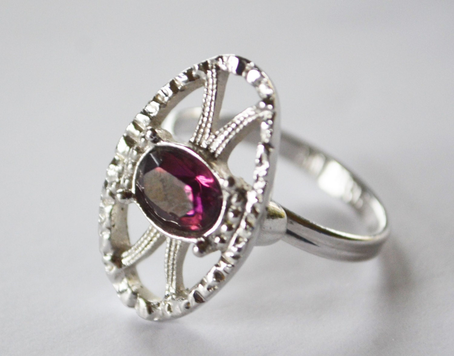 amethyst ring vintage - photo #7