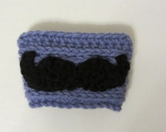 Crochet Coffee Cup Cozy with or without Mustache