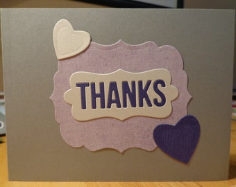 Two elegant thank you cards