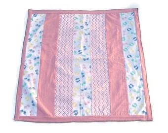 Pink strip quilt, baby strip quilt, stripe quilt, toddler quilt, pink quilt, baby blanket, handprints, modern baby quilt, crib quilt, baby